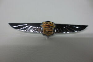 Original 1949 1950 Cadillac Dash Emblem Ornament Badge Crescent Decal Restored