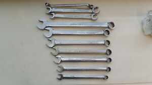 Snap On Tools Sae Wrench 10 Piece Lot Combo Flare And Offset Boxed End