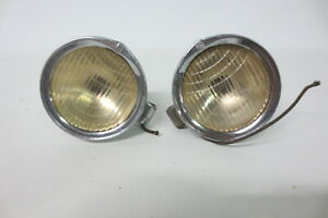 Vintage 1920 S 1930 S Nash Cowl Lights 4 3 8 Driving Lights Lamps Accessory