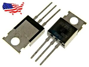 Irf4905 2 Pcs P channel 74a 55v To 220 Power Mosfet From Usa
