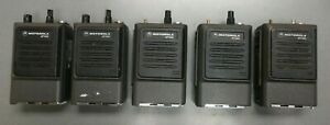 Lot Of 5 Motorola Genesis Mt1000 Two way Portable Radios Low Band Vhf 6 Watts