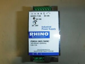 Rhino Switching Power Supply 24 Vdc adjustable Output 7 5a 180w 120 240 Va