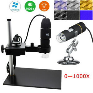 Digital Usb 1000x 8led Microscope Magnification Endoscope With Stand Holder N8r2
