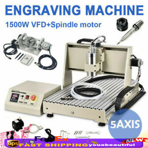 5 Axis Cnc Engraver Router Engraving Machine 6040 3d Wood Carving Milling 1500w