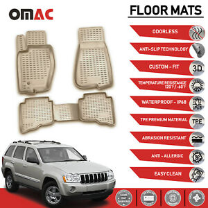 Floor Mats Liner 3d Molded Tan For Jeep Grand Cherokee 2005 2010