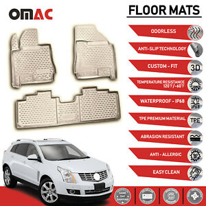 Floor Mats Liner 3d Molded Tan Set For Cadillac Srx 2010 2016