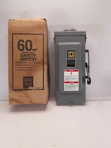 Square D D222nrb General Duty Safety Switch Series E3 240 Vac New Open Box