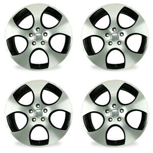 Set Of 4 18 Black Wheels For 05 14 Vw Golf Jetta Gti Oem Quality Alloy 69822