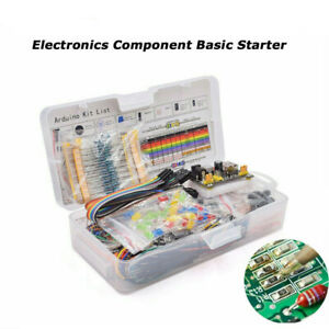 Electronics Component Starter Kit W 830 Tie points Breadboard Cable Resistor