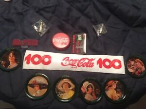 Coca-Coca box lot of 12 all for one money coasters key chain coke bottle cap