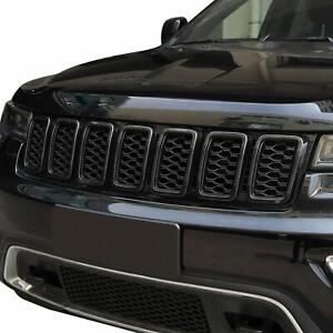 Front Grille Inserts Abs Grill Cover Trim Kit For Jeep Grand Cherokee 2017 2019