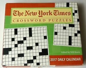 The New York Times Crossword Puzzles 2017 Daily Desk Calendar