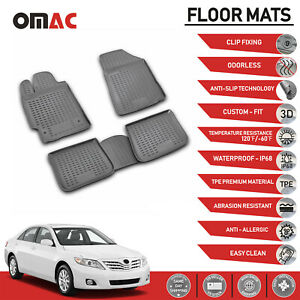 Floor Mats Liner 3d Molded Black Grey Set For Toyota Camry 2007 2011