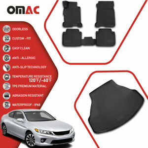 Floor Mats Cargo Trunk Liner 3d Molded Fit Black Set For Honda Accord 2013 17