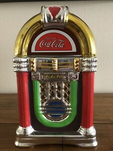 Coca-Cola Rock 'n Roll JukeBox Shaped Cookie Jar 2002 Gibson