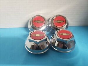 4 Center Caps 200 S American Racing Daisy Wheels 2 1 2 Hole W Red Gold Bow