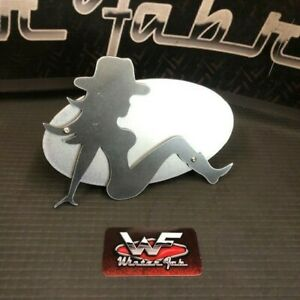 Cow Girl Two Layer Hitch Cover 1 8 Steel Custom Truck Cowboy Cowgirl Funny