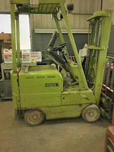 Used Yale Ec500 0s30d Ee Fork Lift 2600lb Electric W Charger 36v 7500lb W bat