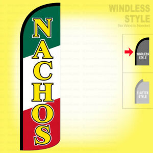 Nachos Windless Swooper Flag 3x11 5 Ft Feather Banner Sign Grq35