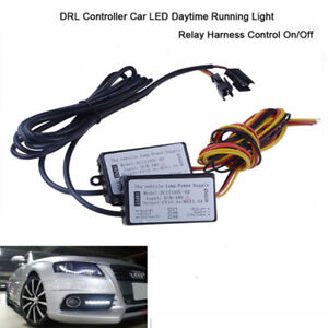 2x Car Led Daytime Running Light Automatic On Off Controller Module Drl Relay