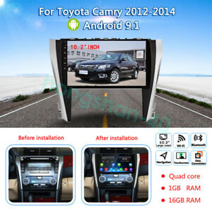 10 Android 9 1 16gb Car Stereo Dvd Gps Player Radio For Toyota Camry 2012 2014