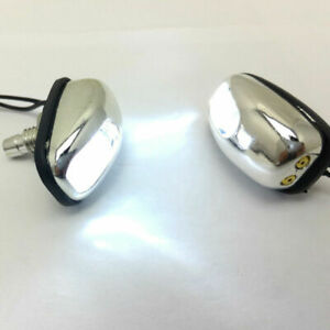 1 Pair Universal White Led Lights Windshield Jet Spray Nozzle Wiper Washers Us