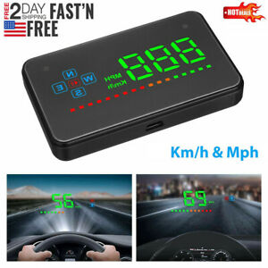 Digital Car Gps Speedometer Speed Display Km H Mph For Bike Motorcycle Universal