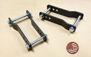 Sr Adjustable 2 Rear Lift Shackle Bracket Kit For 07 20 Toyota Tundra 2wd 4wd