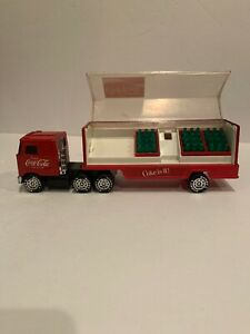 Buddy L Coca Cola Truck 18 wheeler 1980 Coke With Bottles Mack Truck
