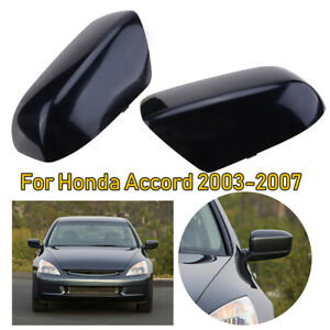 For 2008 2012 Honda Accord Black Side Rear View Mirror Cover Trim Cap Pair Lh Rh