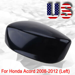 Us Stock Left Driver Side Mirror Cover Cap For Honda Accord 2008 2012 Black
