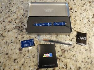 Acme Presentation Box Set W Money Clip Blue Print Roller Ball Pen New Wow