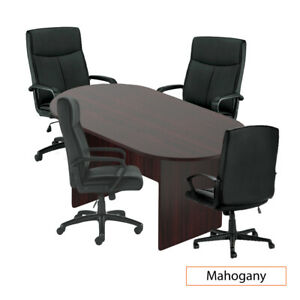 Gof 6ft Conference Table 4chairs g11782b Set Cherry espresso mahogany walnut