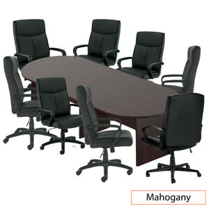Gof 10ft Conference Table 8chairs g11782b Set cherry espresso mahogany walnut