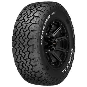 4 new 35x12 50r17 General Grabber A t X 121r E 10 Ply White Letter Tires