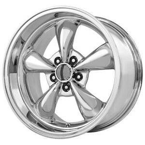 4 Replica 106c Mustang Bullet 17x8 5x4 5 0mm Chrome Wheels Rims 17 Inch