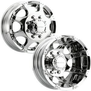 Set Of 4 vision 715 Crazy 8 s Dually 17 Inch 8x170 Chrome Wheels Rims