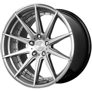 Staggered Verde V20 Insignia Front 22x9 Rear 22x10 5 5x120 Silver Wheels Rims