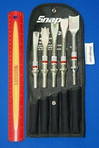 New Snap On Tools 5 Piece Air Hammer Cutter Chisel Breaker Ripper Set Phg1005ak