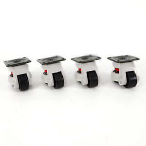 Gd 60f Set Of 4 Leveling Casters High Wearability Aluminum Adjustable Height Usa