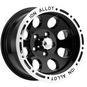 4 Ion 174 15x8 5x4 75 27mm Black Wheels Rims 15 Inch