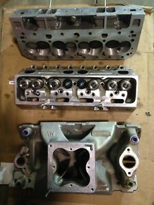 Sbc Brodix 18x Top End Heads Intake Shaft Rockers Small Block Chevy Heads