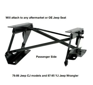 Forward Seat Riser Bracket For 76 To 95 Jeep Cj And Wrangler Yj Models Right
