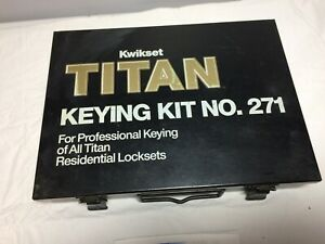 Kwikset Titan Keying Kit No 271 For Professional Keying W instructions
