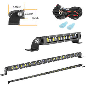 Slim Single Row Cree Led Light Bar 6 20 40 Inch Spot Flood Off Road Car Boat