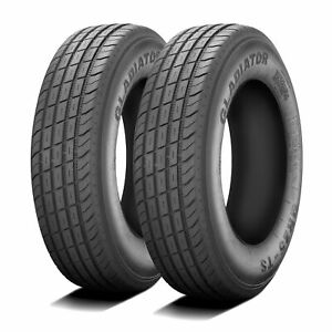 2 New Gladiator Qr25 ts St 255 85r16 Load F 12 Ply Trailer Tires