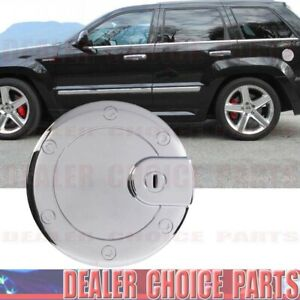 Chrome Gas Door Fuel Cover For 2005 2006 2007 2008 2009 2010 Jeep Grand Cherokee