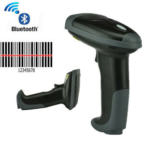 2pcs Wireless Bluetooth Barcode Scanner Usb Bar Code Pos Laser Automatic Reader