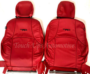 Fits 2011 2020 Toyota 4runner Alea Red Leather Seat Covers Kit Black Trd Logos