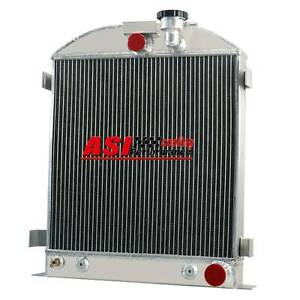 4 Rows Aluminum Radiator For 1939 1940 Ford Grill Shells 3 Chopped Chevy Engine